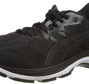 ASICS Men's Gel-Nimbus 20 Running Shoe, Black/White/Carbon, 9 2E US