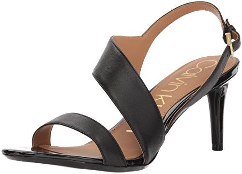 Calvin Klein Women's Lancy Heeled Sandal, Black, 11 Medium US