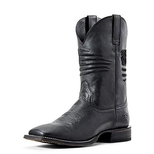 ARIAT Men's Circuit Patriot Western Boot Black Carbon