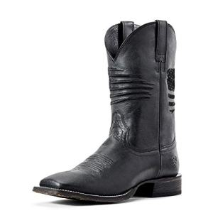 ARIAT Men's Circuit Patriot Western Boot Black Carbon