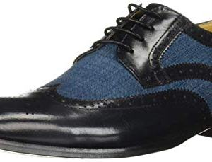 STACY ADAMS Men's Kemper Wingtip Lace-Up Oxford, Blue/Multi