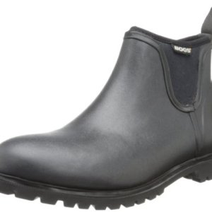 Bogs Men's Carson Low Waterproof Rain Boot, Black