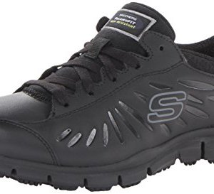 Skechers for Work Women's Eldred Work Shoe, Black