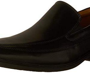 CLARKS Men's Tilden Free, Black Leather