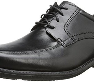 Rockport Men's Style Leader 2 Apron Toe Black Waxed Calf