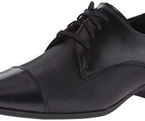 Calvin Klein Men's Bram Oxford, Black Diamond Leather