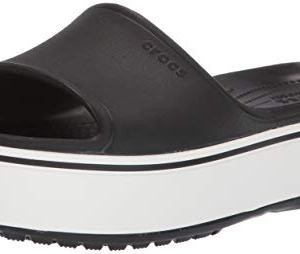 Crocs Platform Slide Sandal, Black/White