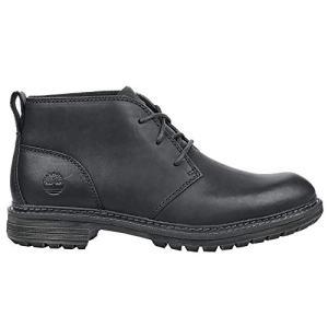 Timberland Men's Logan Bay Chukka Boot, Black Full Grain Leather