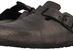 Birkenstock Womens Boston Soft Footbed Antique Black Clog
