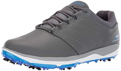 Skechers Men's Pro 4 Waterproof Golf Shoe, Gray/Blue