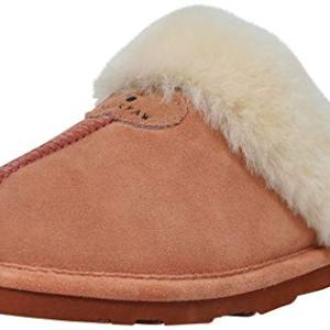 BEARPAW Women's Loki Ii Slide Slipper, Dusty Rose