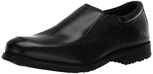 Rockport Men's Lead the Pack Slip-On Black WP Leather