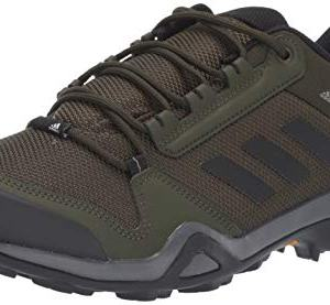 Adidas outdoor Men's Terrex AX3 Hiking Boot, Night Cargo/Black/raw Khaki, 10.5 M US