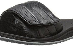 New Balance Men's Recharge Slide Sandal, Black/Grey