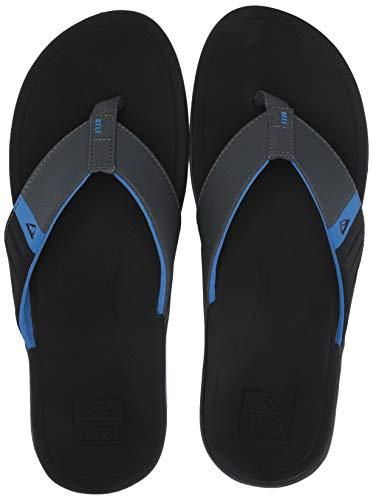 REEF Men's Ortho-Bounce Sport Sandal, Black/Blue