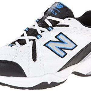New Balance Men's MX608v4 Training Shoe, White/Royal, 10 4E US