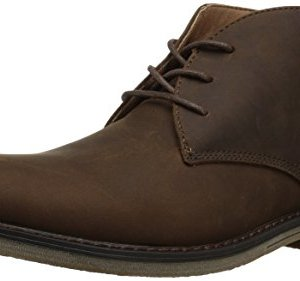 Nunn Bush Men's Lancaster Plain Toe Chukka Boot, Brown