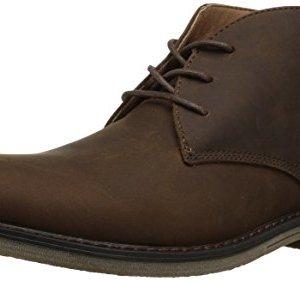Nunn Bush Men's Lancaster Plain Toe Chukka Boot, Brown