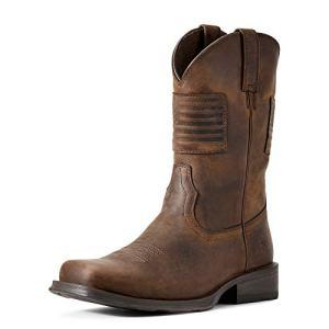 ARIAT Men's Rambler Patriot Western Boot Distressed Brown Size 10.5 D/Medium Us
