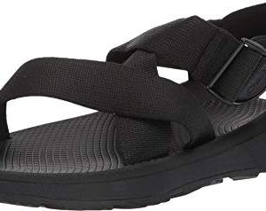 Chaco Men's MEGA Z Cloud Sport Sandal, Solid Black