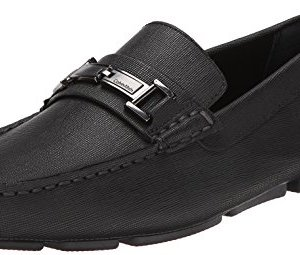 Calvin Klein Men's Magnus Loafer, Black Weave Emboss, 11 M US