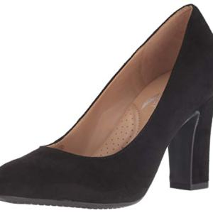Aerosoles Women's Octagon Pump, black suede