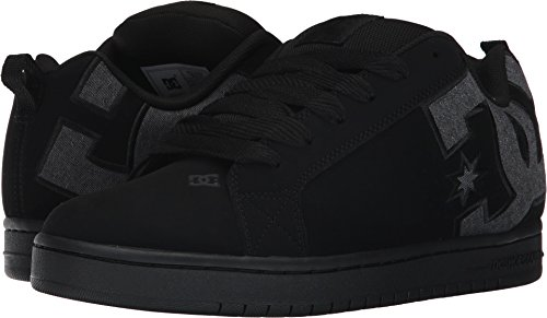 DC Men's Court Graffik SE Skate Shoe,Black Destroy Wash