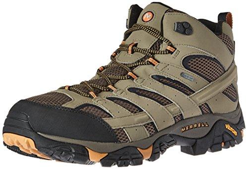 Merrell Men's Moab 2 Mid Gtx Hiking Boot, Walnut, 9.5 M US
