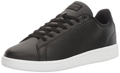 adidas Men's Cloudfoam Advantage Clean Sneakers, Black/Black/White