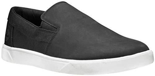 Timberland Men's Groveton Slip On Sneaker, Black Nubuck