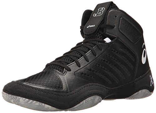 ASICS Mens JB Elite III Wrestling Shoe, Black/White