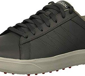 Skechers Men's Drive 4 Golf Shoe, Charcoal/red