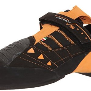 SCARPA Men's Instinct VS Climbing Shoe, Black/Orange