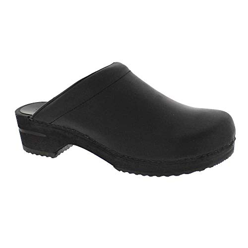 Sanita Men's Christian Open Back Wood Clogs (Factory 2nd) - Black/EU-42 (8.5-9 US)