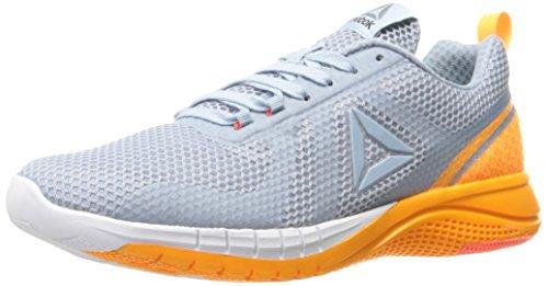 Reebok Women's Print Run 2.0 Shoe, Gable Grey/Fire Spark/White/Pure Silver, 8.5 M US