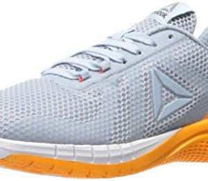 Reebok Women's Print Run 2.0 Shoe, Gable Grey/Fire Spark/White/Pure Silver, 8.5 M US