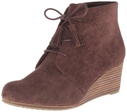 Dr. Scholl's Shoes Women's Dakota Boot, Dark Brown Microfiber Suede