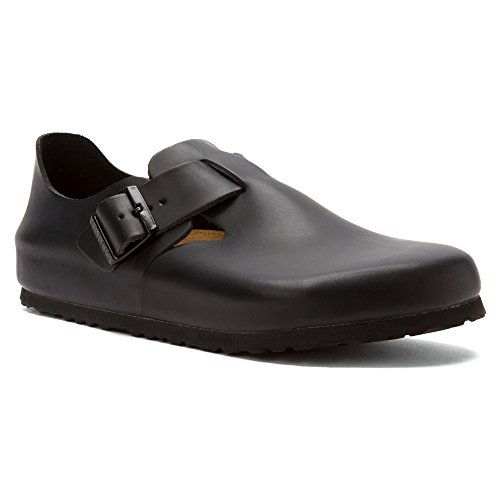 Birkenstock Unisex London SFB Leather Mule,Hunter Black