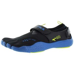 Fila Skele-Toes EZ Slide Drainage Black/Limepunch/Blue Mens Water Sports
