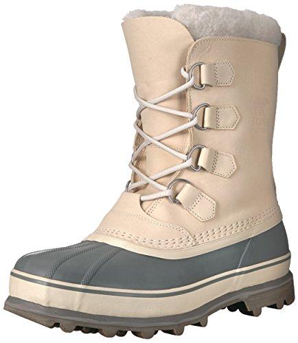 Sorel Men's Caribou Snow Boot, Oatmeal, Quarry