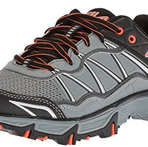 Fila Men's at Peake 19 Trail Running Shoe, Monument/Dark Shadow/red Orange
