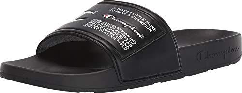 Champion Ipo Jock Mens Black Synthetic Slides Slip On Sandals