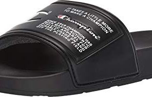 Champion Ipo Jock Mens Black Synthetic Slides Slip On Sandals