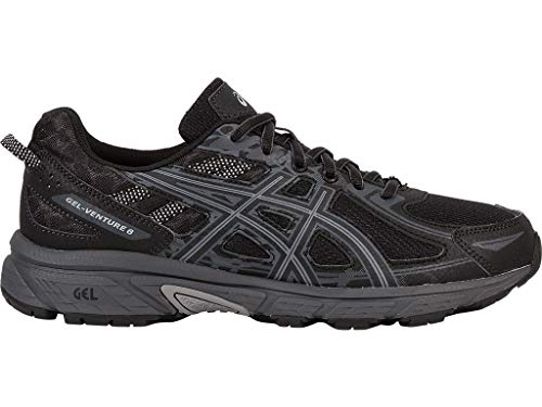 ASICS Mens Gel-Venture Running Shoe, Black/Phantom/Mid Grey