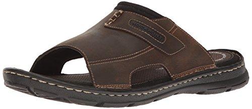 Rockport Men's Darwyn Slide Sandal, Brown Ii Leather