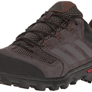 adidas outdoor Men's Caprock Hiking Shoe, Cargo Night Brown/Black, 10 M US
