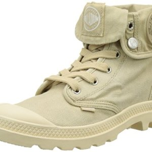 Palladium Women's Baggy Canvas Boots, Sahara/Ecru