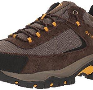 Columbia Men's Granite Ridge Hiking Shoe, Mud, Golden Yellow, 13 D US