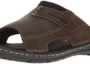 Rockport Men's Darwyn Slide Sandal, Brown Ii Leather