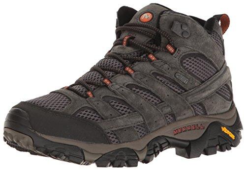 Merrell Men's Moab 2 Mid Waterproof Hiking Boot, Beluga